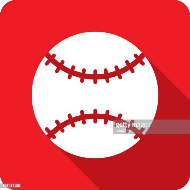 baseball icon silhouette - baseball stock illustrations, clip art, cartoons, & icons