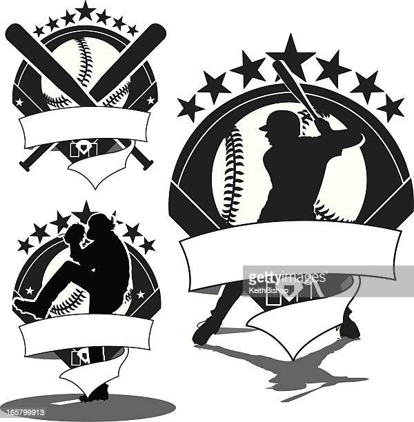 Baseball Icons - Batter, Pitcher & Bats
