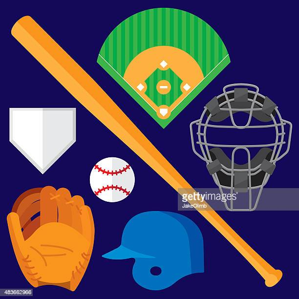Baseball Items Flat