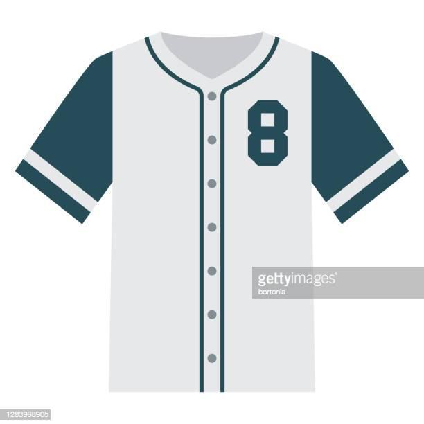 baseball jersey icon on transparent background - baseball uniform stock illustrations