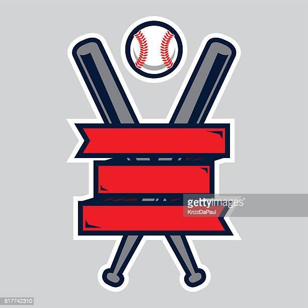 baseball logo - baseball bat stock illustrations