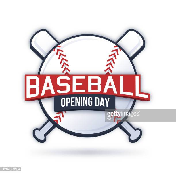 baseball opening day symbol - day 1 stock illustrations