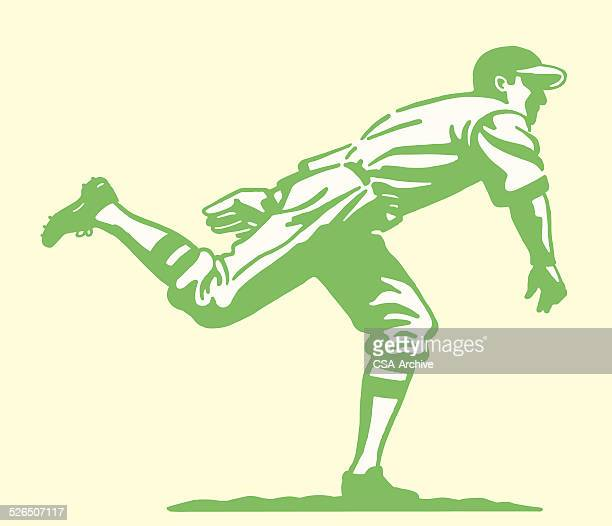 baseball pitcher - baseball stock illustrations, clip art, cartoons, & icons