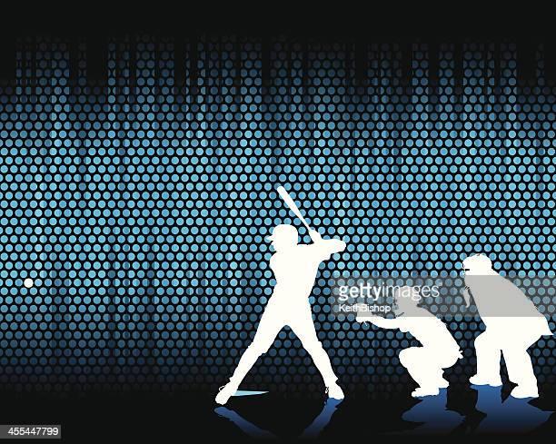 illustrations, cliparts, dessins animés et icônes de baseball à la batte-image d'arrière-plan - arbitre de baseball
