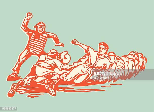 illustrations, cliparts, dessins animés et icônes de joueur de baseball de portes coulissantes donnant sur un chez-soi pendant que vous attend et arbitre de baseball - arbitre de baseball
