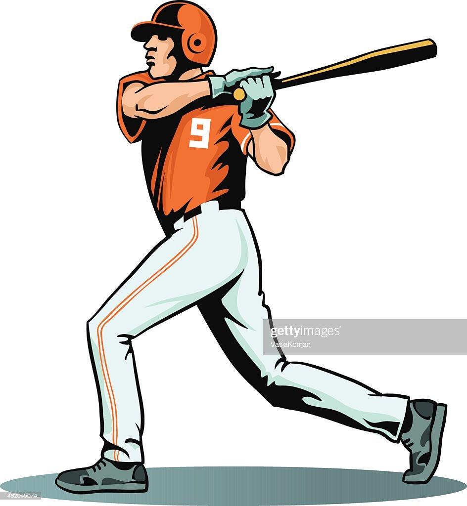 baseball player swinging bat isolated vector art getty images rh gettyimages com Baseball Bat Vector Logo Vector O Baseball Bat