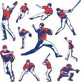 Baseball Players Set
