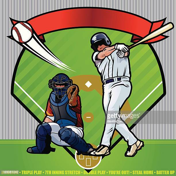 baseball players - baseball bat stock illustrations, clip art, cartoons, & icons