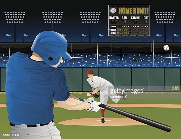 bildbanksillustrationer, clip art samt tecknat material och ikoner med baseball players with scoreboard - basebollslag