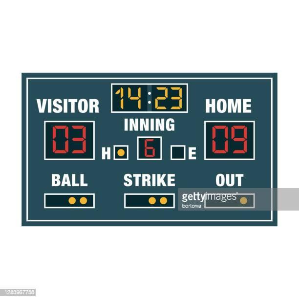 stockillustraties, clipart, cartoons en iconen met het scorebordpictogram van het honkbal op transparante achtergrond - scorebord