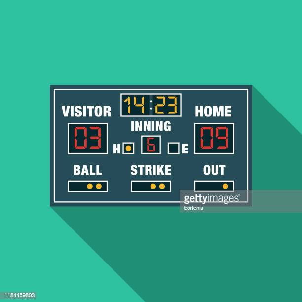 baseball scoreboard icon - scoring stock illustrations