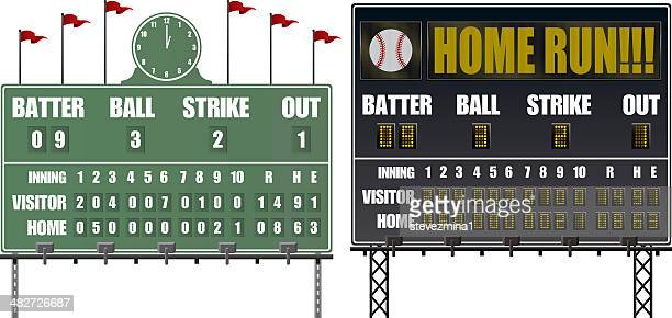 baseball scoreboards - scoring stock illustrations