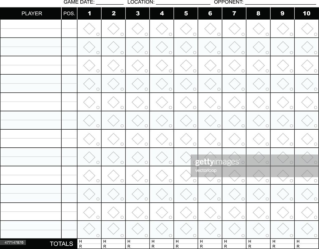 baseball scorecard template