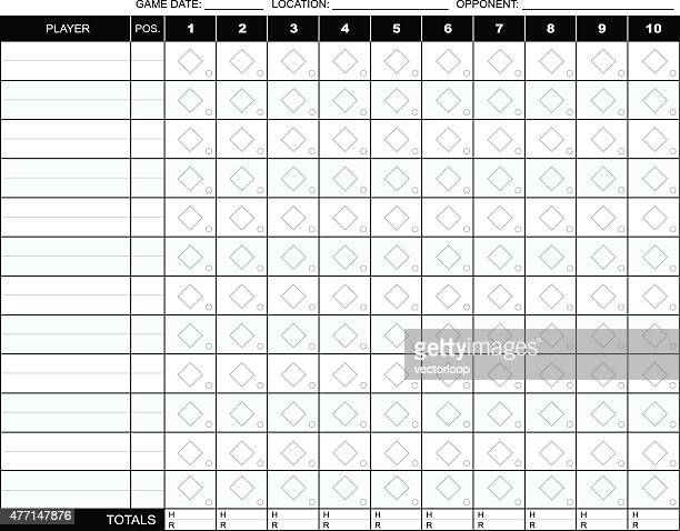 baseball scorecard - scoring stock illustrations
