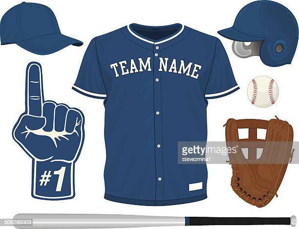 野球のセット - 野球のユニフォーム点のイラスト素材/クリップアート素材/マンガ素材/アイコン素材