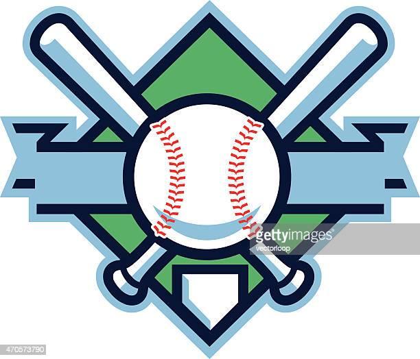 baseball shield - baseball bat stock illustrations, clip art, cartoons, & icons