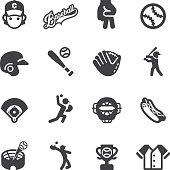 Baseball Silhouette icons | EPS10