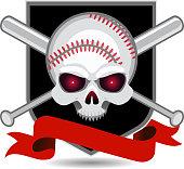 Baseball Skull Insignia