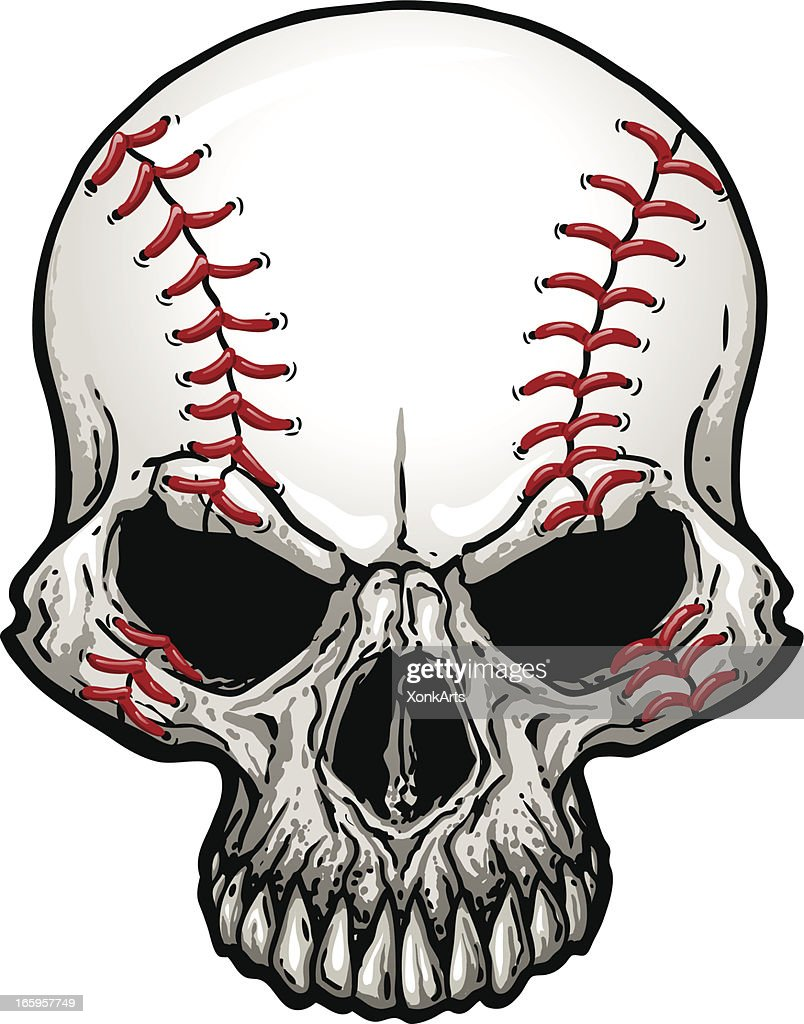 baseball skull vector art getty images rh gettyimages com skull vector free for commercial use sugar skull vector art