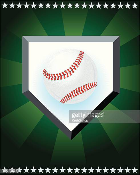 Baseball Sport Home Plate Star Design