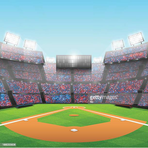 baseball stadium - baseball stock illustrations, clip art, cartoons, & icons