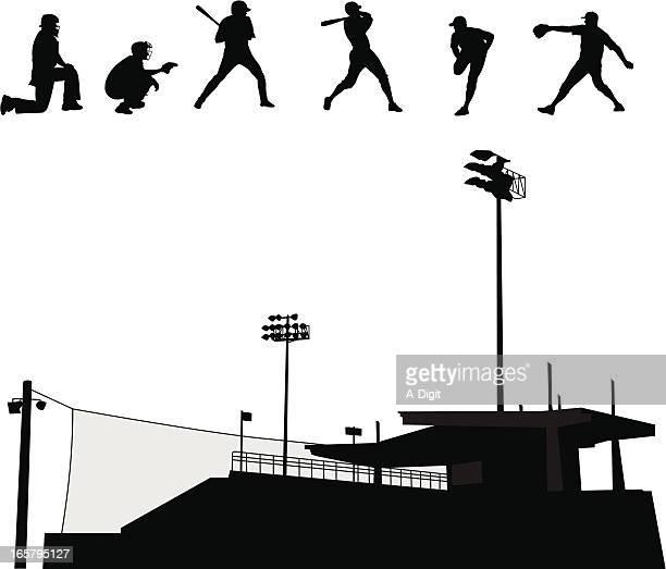 illustrations, cliparts, dessins animés et icônes de baseballstadium - arbitre de baseball