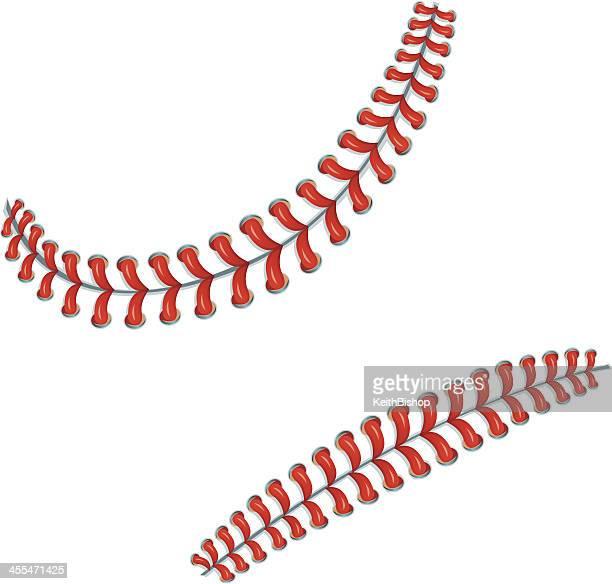 Points de base-ball ou des lacets de fond