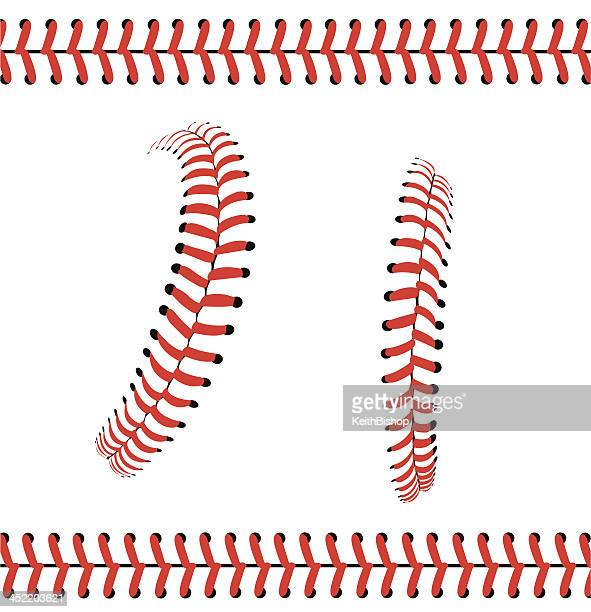 baseball stitches or laces - graphic pattern - baseball stock illustrations, clip art, cartoons, & icons