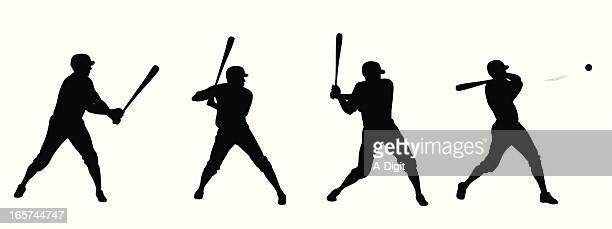 Baseball Swing Vector Silhouette