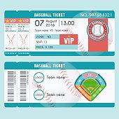 Baseball Ticket Modern Design