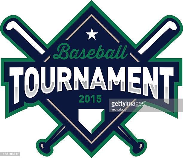 baseball tournament emblem - home base sports stock illustrations