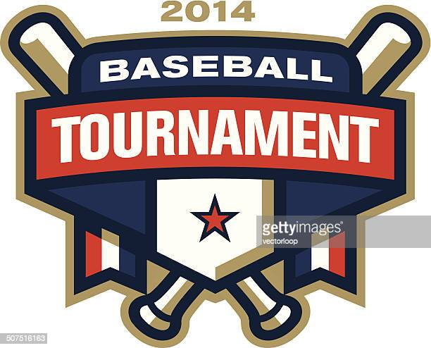 baseball tournament logo - baseball bat stock illustrations, clip art, cartoons, & icons
