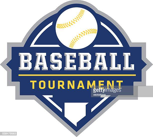 baseball tournament logo - baseball stock illustrations, clip art, cartoons, & icons
