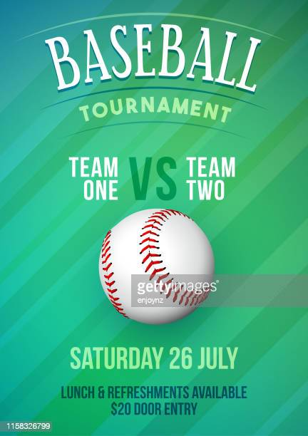 baseball tournament poster - competition group stock illustrations