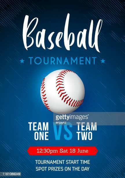 baseball tournament poster - sports league stock illustrations