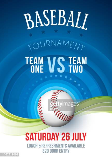 Affiche de tournoi de base-ball