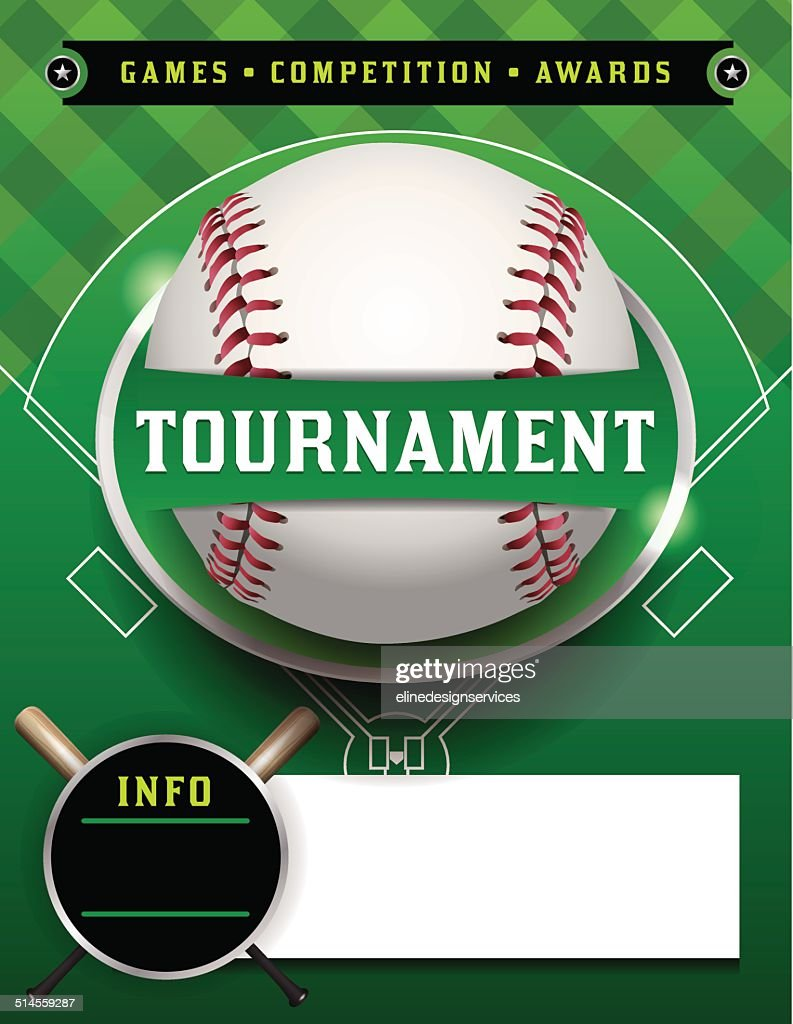 Baseball Tournament Template Illustration