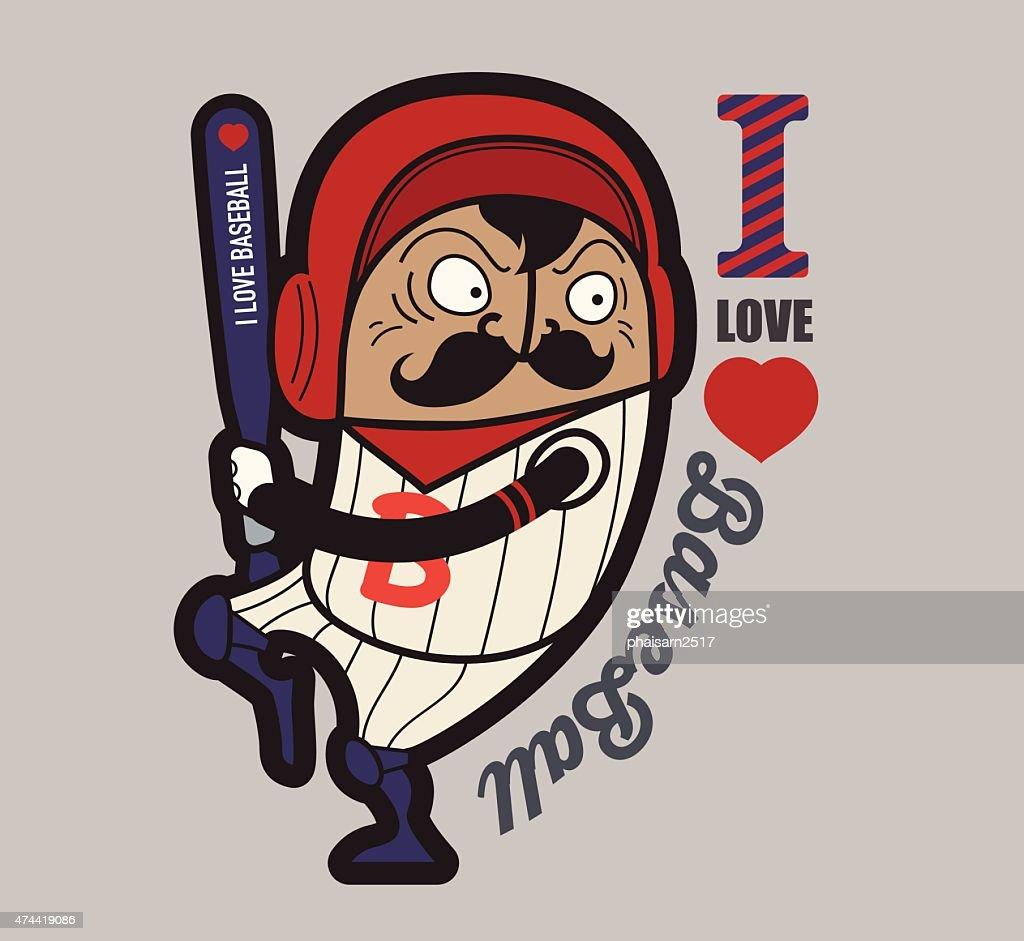 Baseball t-shirt graphics, Old pople player