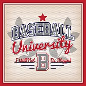Baseball University Badge