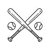 baseball vector icon logo baseball bat cartoon illustration symbol clip art
