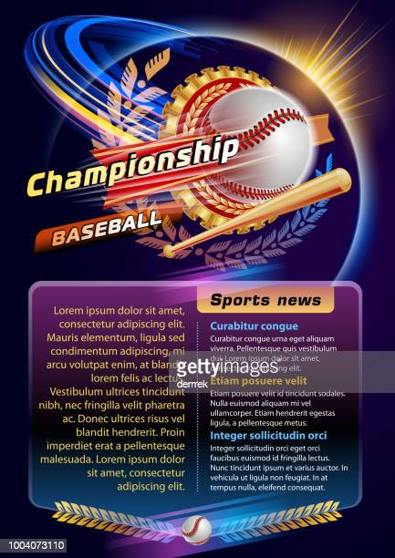 baseball - tournament of champions stock illustrations, clip art, cartoons, & icons