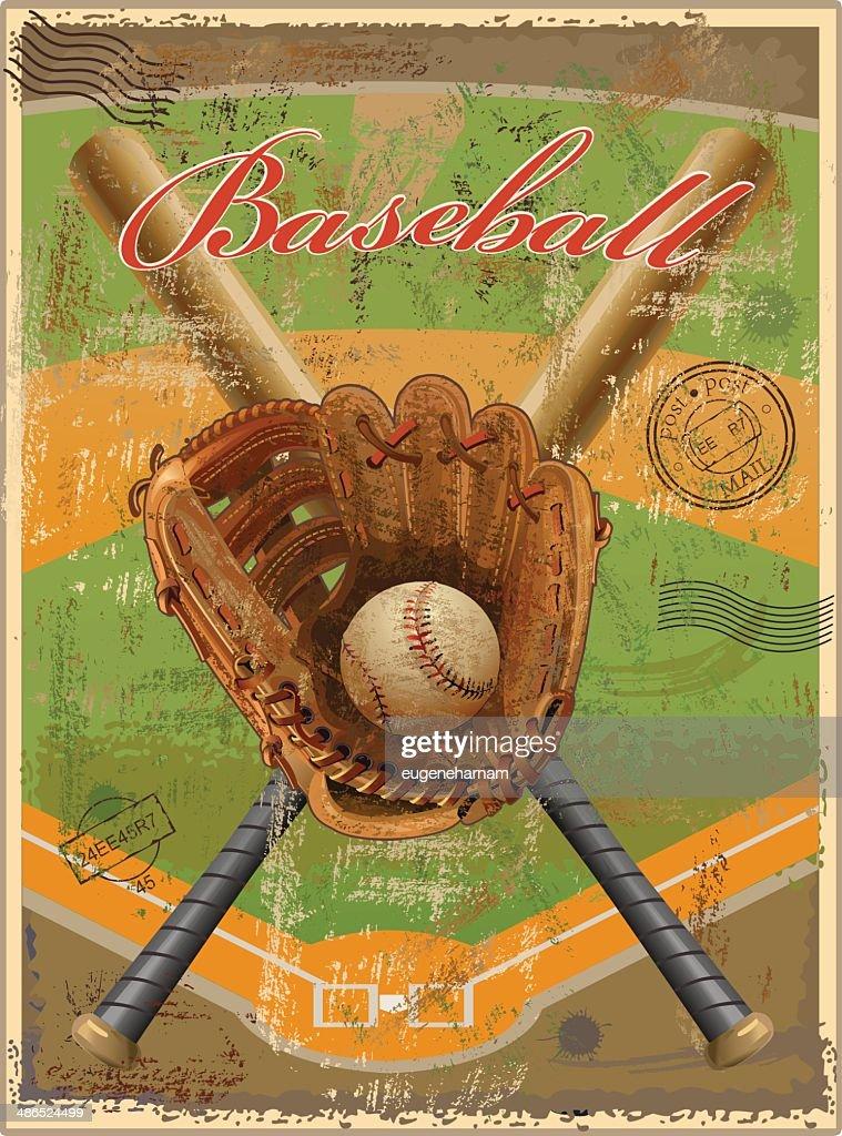 Baseball vintage-retro