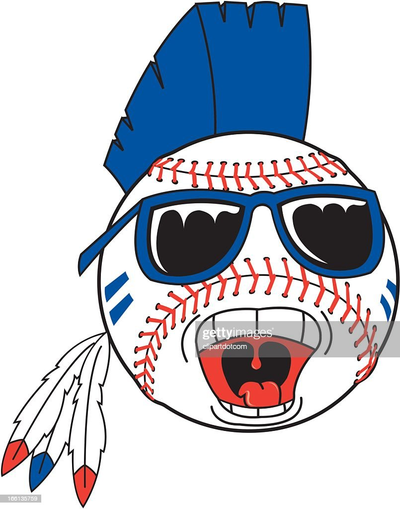 Baseball with Mohawk