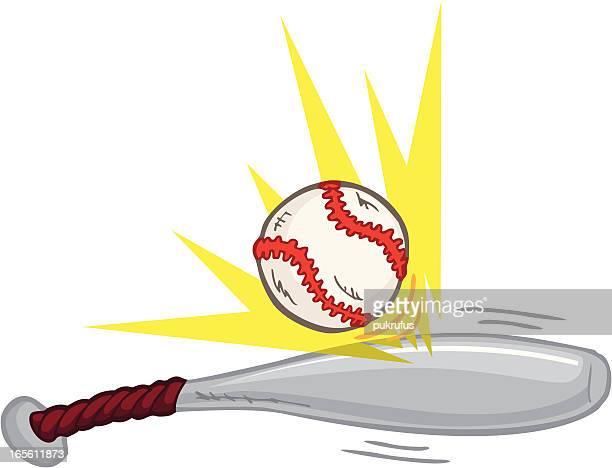 baseballbatting - baseball bat stock illustrations, clip art, cartoons, & icons