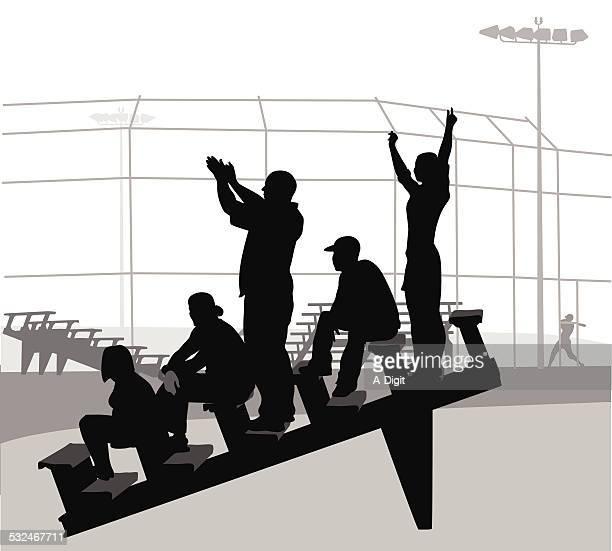 ilustraciones, imágenes clip art, dibujos animados e iconos de stock de baseballbleachers - gradas