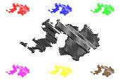 Basel-Landschaft map vector