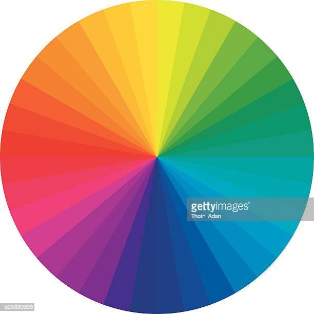 ベーシックな色の輪 - カラー画像点のイラスト素材/クリップアート素材/マンガ素材/アイコン素材