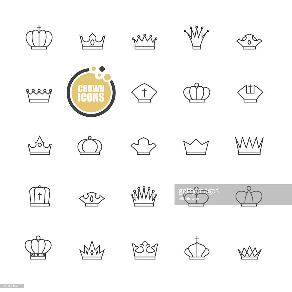 basic Crown icons design
