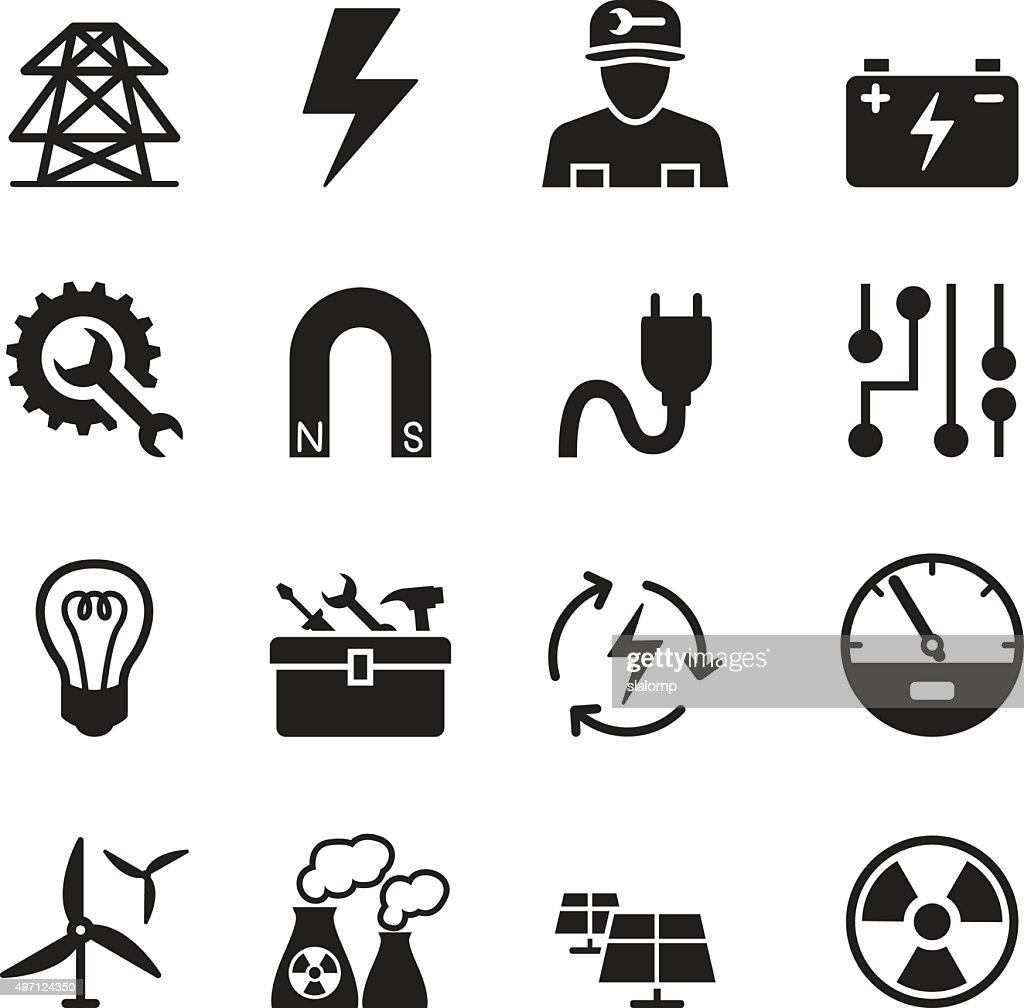 Basic Electricity icons set
