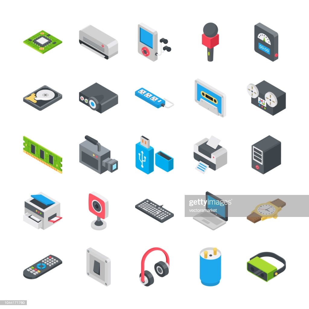 Basic Electronic Devices Icons